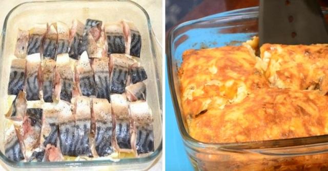 Румяная картофельная запеканка со скумбрией. В таком виде рыбу полюбит даже ребенок!