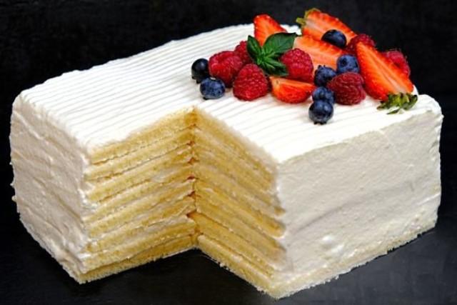 Торт «Молочная девочка» – нежный и очень вкусный торт!