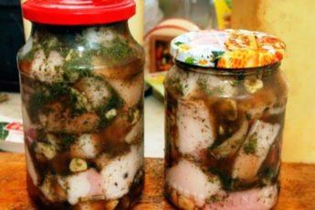 Рецепт нежного и вкусного сала в рассоле 1